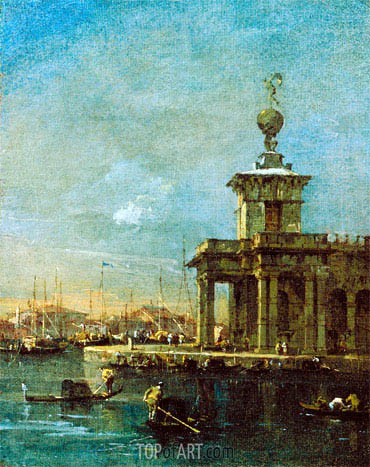 Francesco Guardi | The Dogana, Venice, c.1780/89