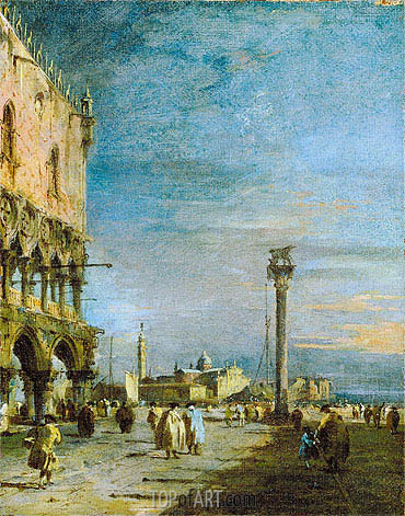 Francesco Guardi | The Piazzetta, Venice, c.1780/89
