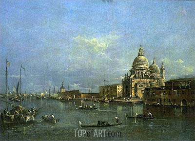 The Church of St. Maria della Salute, Venice, c.1780/85 | Francesco Guardi | Gemälde Reproduktion