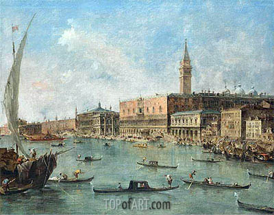 Venice: The Doge's Palace and the Molo, c.1770 | Francesco Guardi | Painting Reproduction