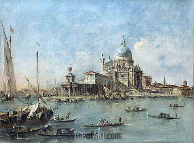 Venice: The Punta della Dogana with St. Maria della Salute, c.1770 | Francesco Guardi| Gemälde Reproduktion