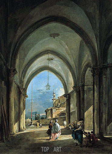 Francesco Guardi | Venetian Capriccio, c.1760/65