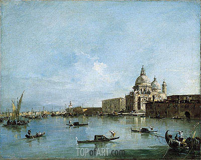 View of the Santa Maria della Salute with the Dogana di Mare, undated | Francesco Guardi| Gemälde Reproduktion