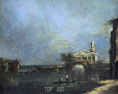 Venice Lagoon, undated | Francesco Guardi| Painting Reproduction