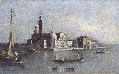 View of San Michele in Venice, undated | Francesco Guardi| Gemälde Reproduktion