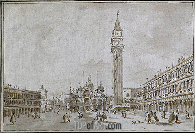 Piazza San Marco, Venice, undated | Francesco Guardi | Painting Reproduction