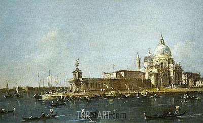 View of Grand Canal with the Dogana, c.1780 | Francesco Guardi | Gemälde Reproduktion