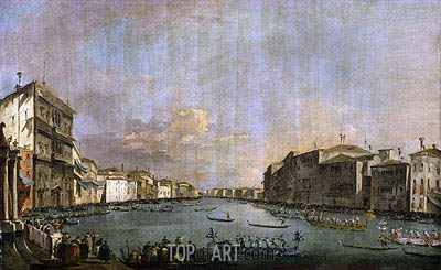 Francesco Guardi | Regatta in Venice, c.1770