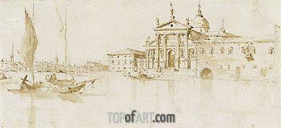 Francesco Guardi | San Giorgio Maggiore, Venice; verso: Flagstaff with a Pennant, c.1765/75