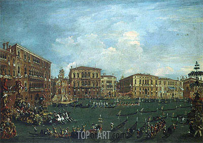 Regatta in 'Volta di Canal', c.1760/70 | Francesco Guardi | Painting Reproduction