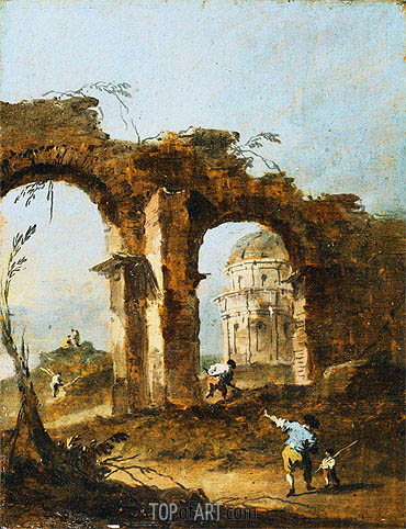 Capriccio, c.1775/80 | Francesco Guardi | Painting Reproduction