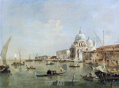 Venice: Santa Maria della Salute and the Dogana, c.1770 | Francesco Guardi | Gemälde Reproduktion
