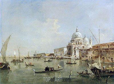 Francesco Guardi | Venice: Santa Maria della Salute and the Dogana, c.1770