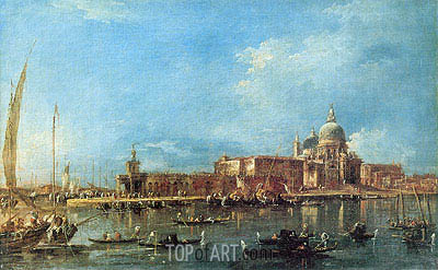 Venice: the Dogana with Santa Maria della Salute, c.1780 | Francesco Guardi | Painting Reproduction