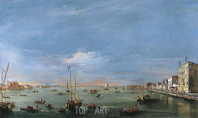Francesco Guardi | View of the Giudecca Canal and the Zattere, c.1757/58
