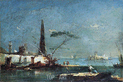 Capriccio of an Island in the Lagoons, undated | Francesco Guardi| Painting Reproduction