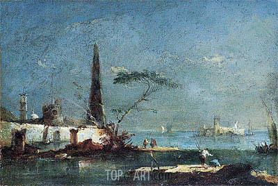 Francesco Guardi | Capriccio of an Island in the Lagoons, undated