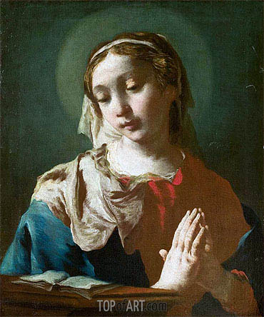 Madonna Read in Prayer, undated | Francesco Guardi | Painting Reproduction