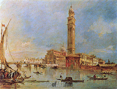 View of the Isola di San Pietro di Castello, undated | Francesco Guardi| Painting Reproduction