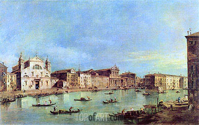 View of Canal Grande with Santa Lucia and Santa Maria di Nazareth, c.1780 | Francesco Guardi | Painting Reproduction