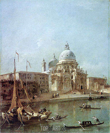 Santa Maria della Salute, undated | Francesco Guardi | Painting Reproduction