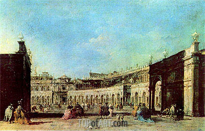 Piazza San Marco, c.1776/77 | Francesco Guardi| Painting Reproduction