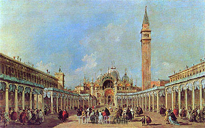The Festival at Piazza San Marco, undated | Francesco Guardi| Painting Reproduction