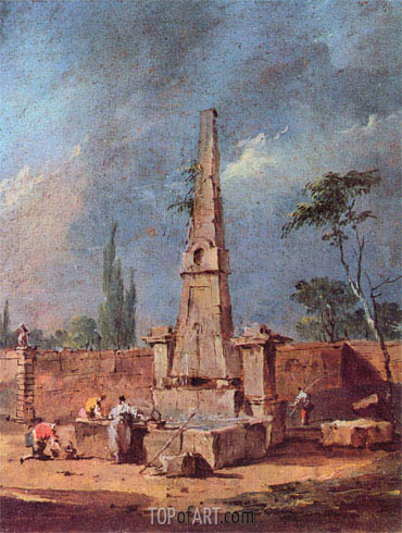 Capriccio, undated | Francesco Guardi | Painting Reproduction