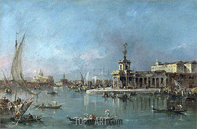 Venice: the Punta della Dogana with the Giudecca and the Redontore Beyond, c.1776/80 | Francesco Guardi| Gemälde Reproduktion