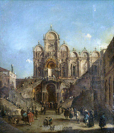 Venice, a View of the Campo San Zanipolo, 1782 | Francesco Guardi | Painting Reproduction