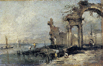 Capriccio with Ruins, undated | Francesco Guardi| Painting Reproduction