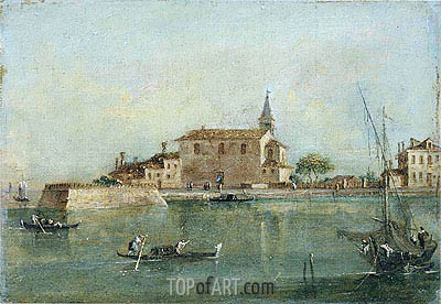 Francesco Guardi | Capriccio with Buildings, a Fishing Boat and Gondolas in the Foreground, undated
