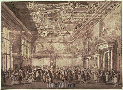 The Doge of Venice Receiving Ambassadors in the Sala dei Collegio, undated | Francesco Guardi| Painting Reproduction