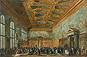 The Doge of Venice Grants an Audience in the Sala del Collegio in the Ducal Palace | Francesco Guardi
