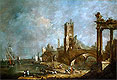 Capriccio of a Harbor | Francesco Guardi