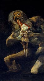 Saturn Devouring one of His Sons, c.1821/23 von Goya | Gemälde-Reproduktion