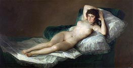 The Nude Maja, c.1797/00 by Goya | Painting Reproduction