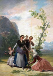 The Flower Girls or Spring, 1786 by Goya | Painting Reproduction