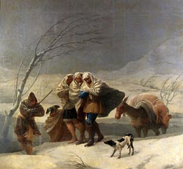 The Snowstorm or Winter | Goya | Painting Reproduction