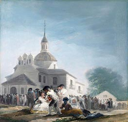 The Hermitage of Saint Isidore on the Saint's Feast Day | Goya | Painting Reproduction