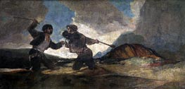 Fight to the Death with Clubs | Goya | outdated