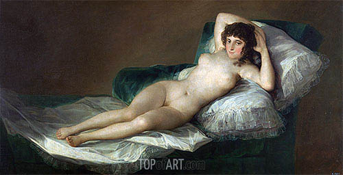 The Nude Maja, c.1797/00 | Goya | Painting Reproduction