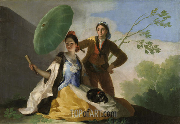 The Parasol, 1777 | Goya | Painting Reproduction