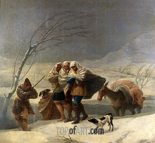 Goya | The Snowstorm or Winter, 1786