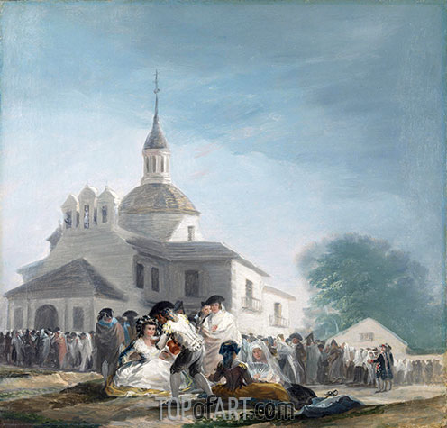 Goya | The Hermitage of Saint Isidore on the Saint's Feast Day, 1788