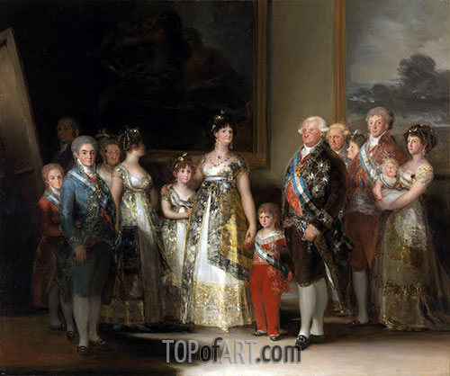 The Family of Carlos IV, 1800 | Goya | Painting Reproduction