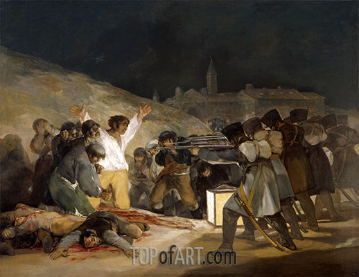 The 3rd of May 1808 in Madrid, 1814 | Goya | Painting Reproduction