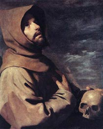 Saint Francis in Ecstasy, c.1660 by Zurbaran | Painting Reproduction