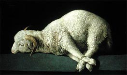 Agnus Dei, c.1635/40 by Zurbaran | Painting Reproduction