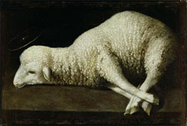 Agnus Dei, c.1636/40 by Zurbaran | Painting Reproduction